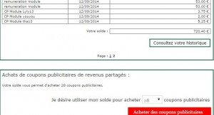 720.40 € DE GAGNES CETTE SEMAINE